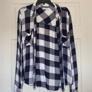 ABERCROMBIE & FITCH LIGHTWEIGHT OVERSIZED FLANNEL